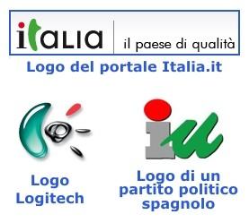 Confronto del logo di Italia.it con altri loghi simili