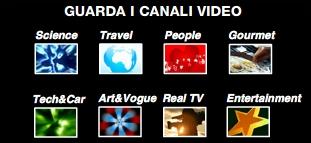 Screenshot dei canali