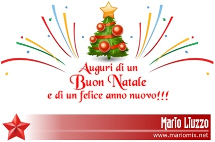Buon Natale e buone feste! Auguri di un felice anno nuovo! Cartolina di MarioMiX