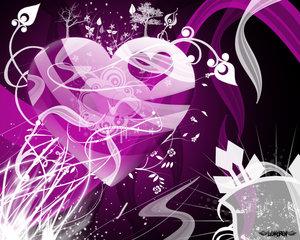 Sfondo desktop cuore viola